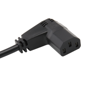 C13 connector, right-angled